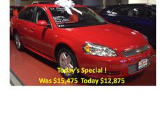 Today's Special 2012 Chevy Impala LT 37k For the best deal on wheels call Jim Zim @ 203-783-5850 ext 1308