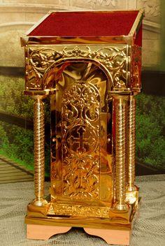Размер аналоя: 50*50*105см. Метал: булат (нитрид титана), чеканка. #church
