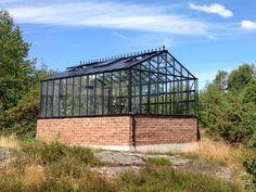 Växthus Gothic 309, 14,1 m², lackerat, 83 cm mur