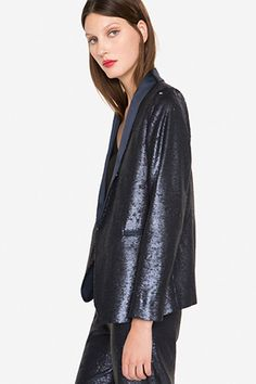 The high street is hitting us with some stellar offerings this week. Cooler weather's now approaching which means goodbye summer dresses and hello slouchy cashmere, structured blazers, lace tops and ultra-glam accessories.  Heroes this week include Zara's lightening-detailed minaudiere and Uterque's dramatic navy sequin blazer – check out these must-haves and get yourself in the mood for autumnal style.