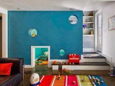 Tiny gateway between playroom and bedroom