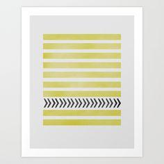 STRIPES AND ARROWS Art Print by Allyson Johnson | Society6
