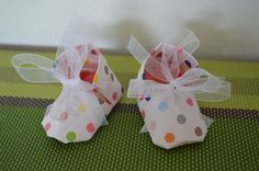 Origami shoes  cute baby souvenir shoes Dottydots by Japonism