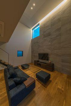 回廊の家 | 注文住宅なら建築設計事務所 フリーダムアーキテクツデザイン 30x40 House Plans, Living Room Tv, Home Theater Rooms, Living Design, Small House Decorating, Living Room Tv Unit, Interior, House, House Interior