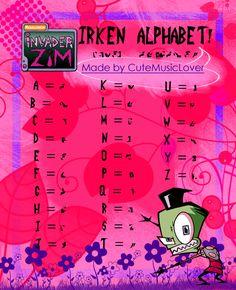 IRKEN ALPHABET now your name in irken