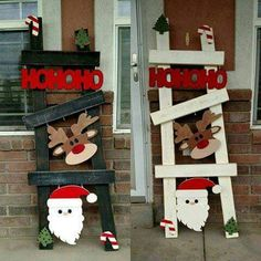 Change your kits out monthly. Hang on your wall place in you window or place on your porch. 15 order unfinished or finished in your choice of color. Christmas Wood Crafts, Pallet Christmas, Christmas Yard, Christmas Signs, Outdoor Christmas, Christmas Projects, Simple Christmas, Holiday Crafts, Christmas Holidays