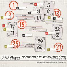 Sweet Shoppe Designs::Elements::Date Elements::Document Christmas {Numbers} by Mari Koegelenberg