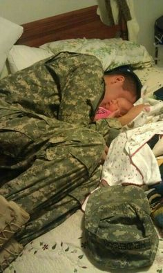 Bless this soldier & his family. God Bless them all