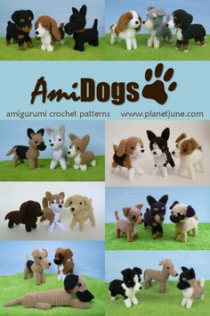 Cute and realistic amigurumi dog crochet patterns - 24 breeds to choose from!