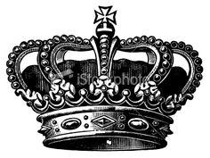Ornate crown Royalty Free Stock Vector Art Illustration