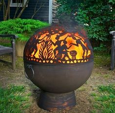 Full Moon Party Fire Dome With Solid Base