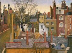 Cedric Morris - From a Window at 45 Brook St., London