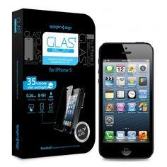 Protector Pantalla iPhone 5 Spigen SGP Cristal Templado Oleophobic Glas T SLIM