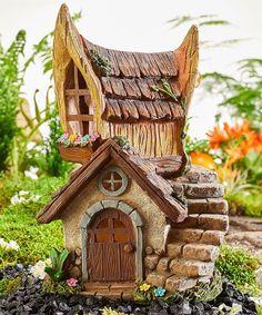 Loving this Solar Lighted House Figurine on Clay Fairy House, Gnome House, Miniature Fairy Gardens, Miniature Houses, Fairy Garden Houses, Gnome Garden, Solar House Numbers, Garden Figurines, Fairy Village