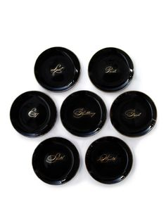 Seven Deadly Sins Dessert Plates (Set of 7) (Get plates from goodwill and use sharpie to write words)