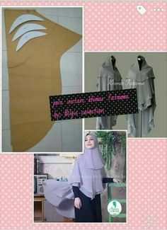 Best Ideas For Dress Diy Pattern Ruffles Easy Sewing Patterns, Sewing Tutorials, Clothing Patterns, Dress Patterns, Sewing Projects, Muslim Fashion, Hijab Fashion, Diy Fashion, Hijab Tutorial
