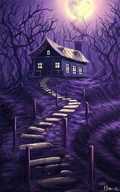 Art in purple. Purple Art, Purple Love, Purple Hues, All Things Purple, Shades Of Purple, Deep Purple, Pink Purple, Purple Stuff, Beautiful Moon