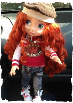 In the car ^^   Disney Animators' doll.