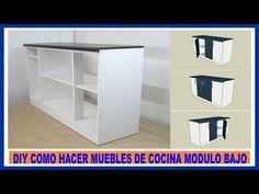 Como hacer muebles de cocina/ Módulo bajo de cocina en melamina/How to make kitchen cabinets - YouTube