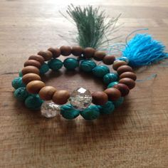 Two Beaded Mala Bracelets