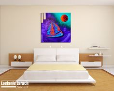 Sail Away - Nautical Painting by Miami based artist Laelanie Larach - Gallery of original paintings in Miami