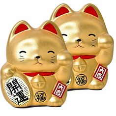 Fortune Cat Bank Set Of 2, $14.25, now featured on Fab. - so cute!!
