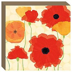 California Poppies & Dots Wall Canvas - jcpenney