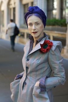 by the time i am this age, i want to have a fabulous fashion sense.  and purple hair.