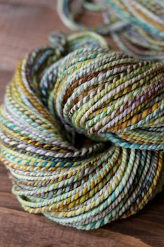 handspun yarn  .dreamcatcher.  126 yards  aran  sw by spinshoppe, $40.00  The simplicity of a beautiful yarn!