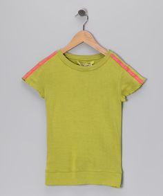 #zulily #fall Lime Butterfly Back Silk Tee