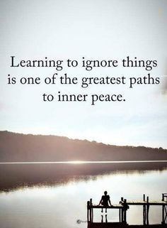inner peace quotes learning to ignore things is one of the greatest paths to inn. Wisdom Quotes, Words Quotes, Quotes To Live By, Me Quotes, Motivational Quotes, Inspirational Quotes, Sayings, Drama Quotes, Quotes Girls