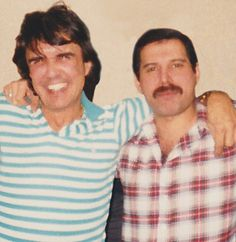 Close friends: Freddie with Dave Clarke, who spent many happy times at the Queen singer's West London home