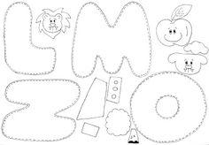 Oi!!! Vim postar um lindo alfabeto ilustrado em EVA que encontrei no blog daLuciene. Este alfabeto é simples mas fica realmente muito fofo. As letras são coladas em palitos de churrasco, o que dá mais suporte para trabalhar cada uma delas… Aí estão os moldes… Artigos Relacionados Como trabalhar família com bonecos de papel Imagens …