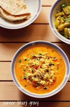 paneer bhurji gravy recipe, how to make paneer bhurji curry recipe