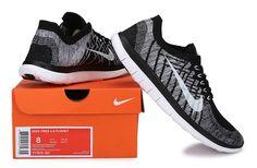 Nike Free Run Flyknit 4.0 Black White - $60.99 | nike shoes | Scoop.it