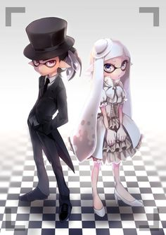 「black&white」/「はくり」のイラスト [pixiv] #Inkling The Inkling Boy looks good in a classy apparel. Credit to the wonderful artist who drew this beautifully. ;-)