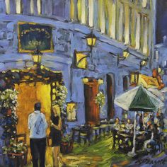 Artwork >> Richard T Pranke >> Looking in the Cafe_sold