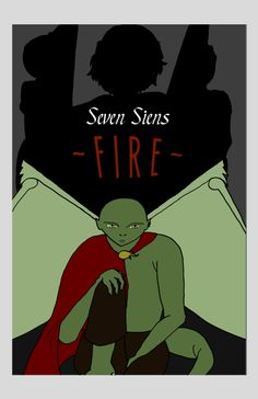 """Cover Art; """"Seven Siens: Fire, Book One"""" Visit polydreamsonline.weebly.com for more!"""