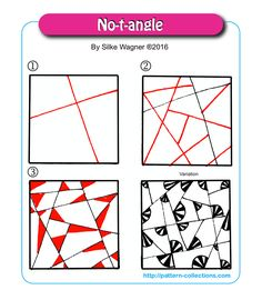 No-t-angle tangle pattern  by Silke Wagner  PatternCollections.com