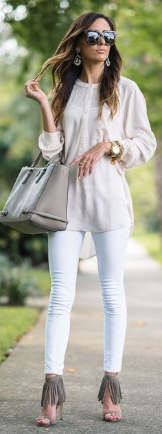 Neutral Tones Everyday Easy Trendy Fall Outfit Idea by Sequins & Things