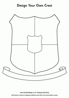 Show them the crest from Harry Potter and have them make their own - Knight Printables