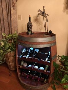 Items similar to Wine Barrel Rack on Etsy Wine Barrel Rack Barrel Projects, Wood Shop Projects, Outdoor Kitchen Bars, Outdoor Kitchen Design, Wine Barrel Bar, Wine Barrel Furniture, French Oak, Bars For Home, Barn Wood