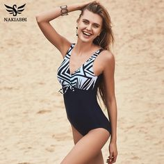 Faithful Hibkn 2018 Plus Size One Piece Swimsuit Halterneck Swimwear Large Sizes Mesh Ruched Monokini Trikini Solid Swimsuit Large Size Sports & Entertainment