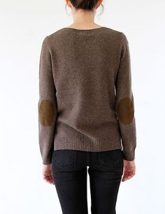 step go home to VA, land of cheap and bedbug free thrift shops step acquire slightly slouchy pullover step attach elbow patches Elbow Patch Sweater, Elbow Patches, Outfit Primavera, Beautiful Outfits, Cute Outfits, Pullover, Cute Sweaters, Fashion Outfits, Womens Fashion