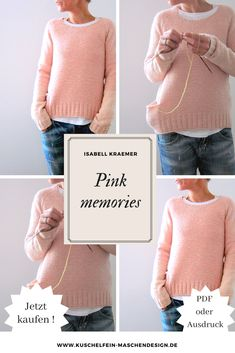Knitting instructions Pink memories by Isabell Kraemer / Pink Memories is seamlessly . - Knitting instructions Pink memories by Isabell Kraemer / Pink Memories is knitted seamlessly from a - Simple Outfits For School, Raglan Pullover, Knitting Patterns, Sewing Patterns, Baby Overall, Dou Dou, Cute Patches, Hobbies For Men, Knitting For Beginners