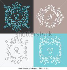 stock-vector-set-of-trendy-monogram-design-templates-abstract-lineart-logo-design-outline-mono-line-style-269112101.jpg (450×470)