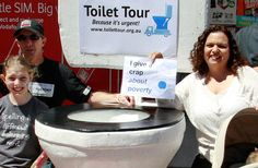 Lalor Park, in Sydney's western suburbs, hosted the toilet during a community festival in October.