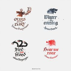 The Great Houses – Game of Thrones Calligraphy by WhiteSylver on DeviantArt – Best Tattoo Models Game Of Thrones Tattoo, Game Of Thrones Shirts, Got Game Of Thrones, Game Of Thrones Houses, Bullet Journal 2019, Bullet Journal Junkies, School Diary, Game Of Thones, House Games