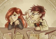 harry potter baby, lily, james and friends fanart Harry Potter Comics, Harry Potter Books, Harry Potter Fan Art, Harry Potter World, Harry Potter Memes, Lily Potter, James Potter, Gina Weasley, Harry And Ginny