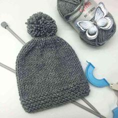 Como hacer un gorro de lana y como tejer a dos agujas paso a paso.